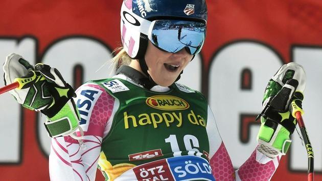 Mikaela Shiffrin jubelte über Platz zwei. (Bild: APA/HANS KLAUS TECHT)