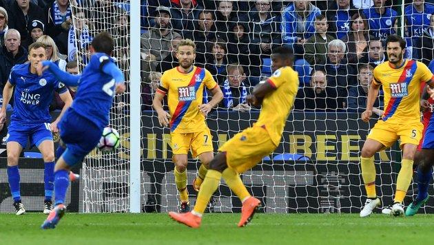 Premieren-Tor von Fuchs für Leicester City! (Bild: AFP or licensors)