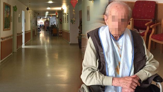 Ein Bewohner im Pflegeheim Clementinum (Bild: Martina Prewein)