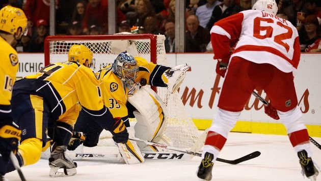Red Wings siegen auch ohne Vanek-Scorerpunkt (Bild: APA/AFP/GETTY IMAGES/Gregory Shamus)