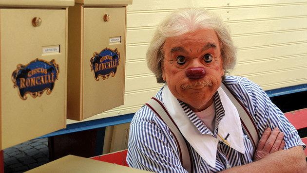 "Bernhard Paul in seiner Paraderolle als Clown ""Zippo"" (Bild: Circus Roncalli)"