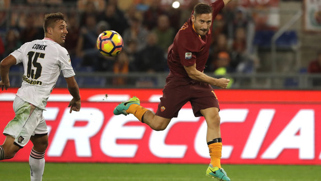 AS Roma besiegt Palermo 4:1, Sassuolo holt 1:1 (Bild: Copyright 2016 The Associated Press. All rights reserved.)