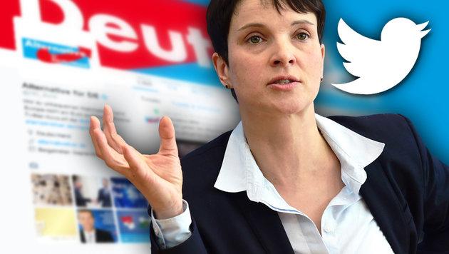 AfD will deutschen Wahlkampf mit Bots manipulieren (Bild: AFP/JOHN MACDOUGALL, twitter.com)