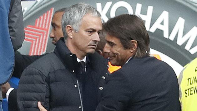 Bittere Pleite für Mourinho: 0:4 gegen Chelsea! (Bild: AP)