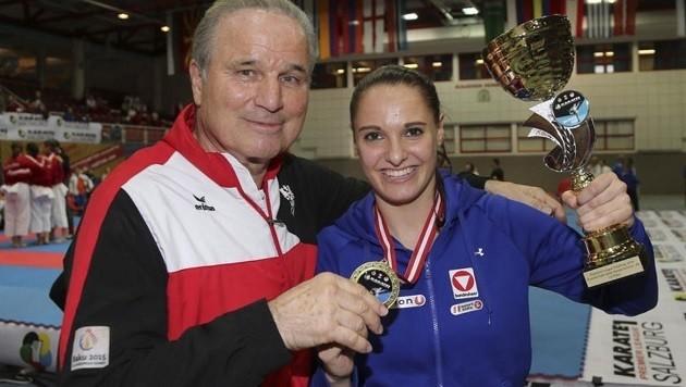 Mit Lisa Buchinger erlebte Trainer Manfred Eppenschwandtner schon etliche Sternstunden. (Bild: Andreas Tröster)