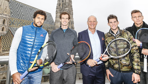 Montag beginnt der ATP-Hit in der Stadthalle - Tsonga, Murray, Thiem und Berdych sind schon ready! (Bild: Bildagentur Zolles KG)