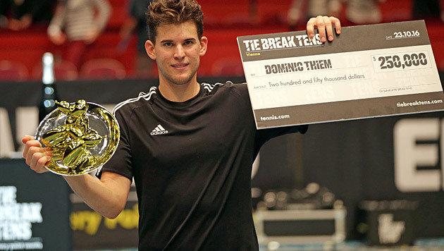 """Thiem gewinnt """"Tie Break Tens"""" und 250.000 Dollar (Bild: GEPA)"""