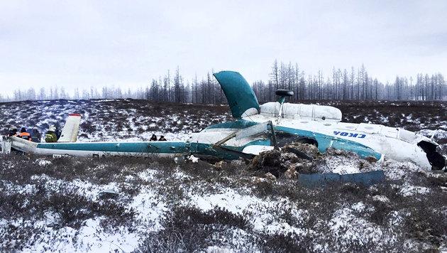 Hubschrauber im Schneeregen abgestürzt: 19 Tote (Bild: ASSOCIATED PRESS)