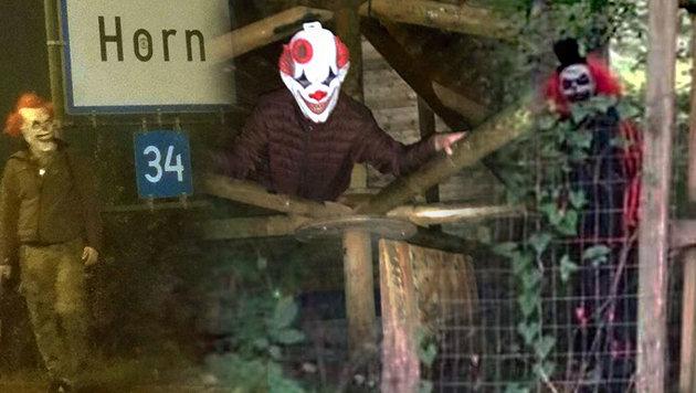 Diese Horror-Clowns wurden in Österreich gesichtet. (Bild: Facebook.com/Clown Warnungen Niederösterreich)