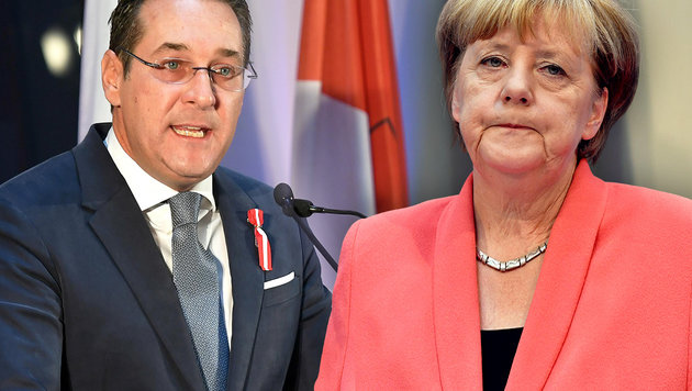 """Merkel ist die gefährlichste Politikerin Europas"" (Bild: APA/HELMUT FOHRINGER, AFP/JOHN MACDOUGALL)"