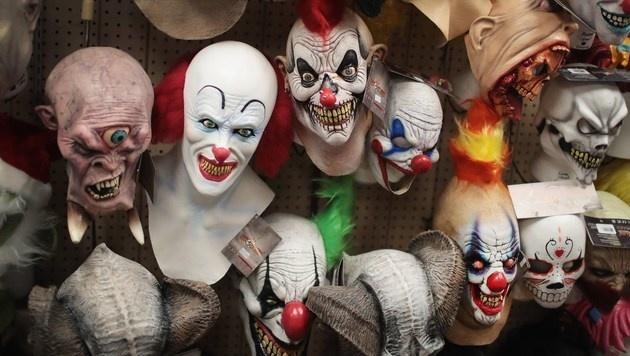 Grusel-Clowns: Welche Gefahr droht zu Halloween? (Bild: APA/AFP/GETTY IMAGES/SCOTT OLSON)