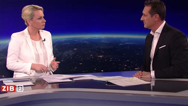 """Heinz-Christian Strache in der """"ZiB 2"""" (Bild: ORF)"""