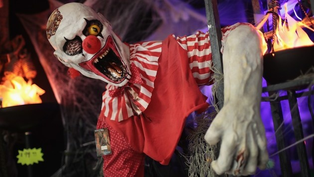 """Horror-Clowns"" sorgen auch in Tirol f�r Hysterie (Bild: APA/AFP/GETTY IMAGES/SCOTT OLSON)"