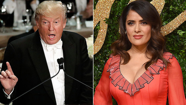 Salma Hayek gab Donald Trump einst einen Korb. (Bild: AP)