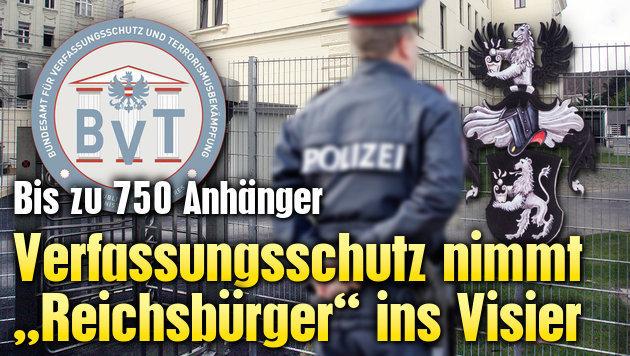 """Verfassungsschutz nimmt """"Reichsb�rger"""" ins Visier (Bild: Andi Schiel, dpa, Klemens Groh, BVT)"""