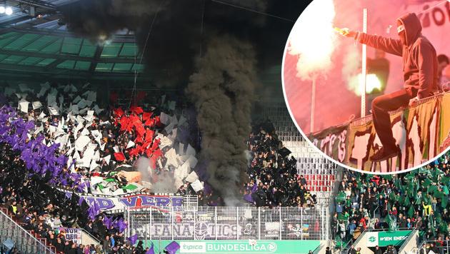 Wiener Derby: 10 Verletzte und 388 Anzeigen (Bild: GEPA)