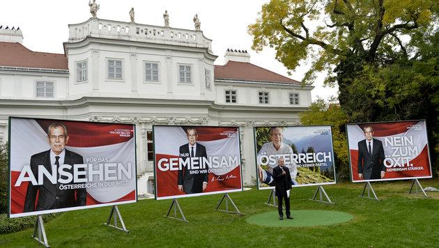 """Van der Bellen: """"Österreich dienen, keiner Partei"""" (Bild: APA/Herbert Neubauer)"""