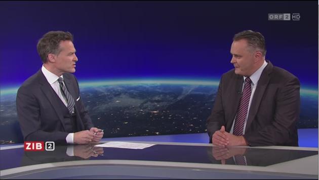 """Verteidigungsmister Hans Peter Doskozil zu Gast in der """"ZiB 2"""" (Bild: ORF TVthek)"""