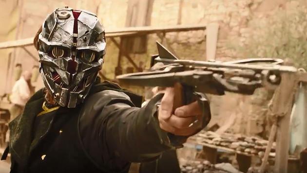 """Dishonored 2"": Corvo und Emily einmal ganz real (Bild: YouTube)"