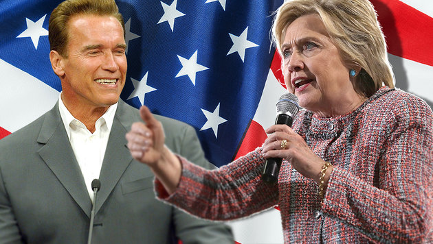 """Schwarzenegger: """"Ich hätte Clinton geschlagen"""" (Bild: AFP/ALEX WONG, AP, thinkstockphotos.de)"""