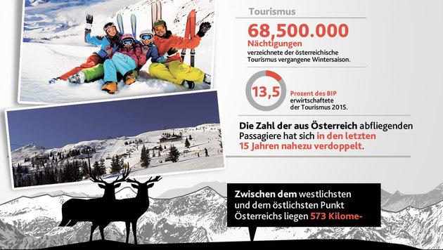 """Das sind Österreichs ganz große Stärken (Bild: """"Krone""""-Grafik)"""