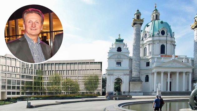 """Architekt Rüdiger Lainer übt eine Doppelfunktion aus. (Bild: Markus Tschepp, """"Krone"""")"""