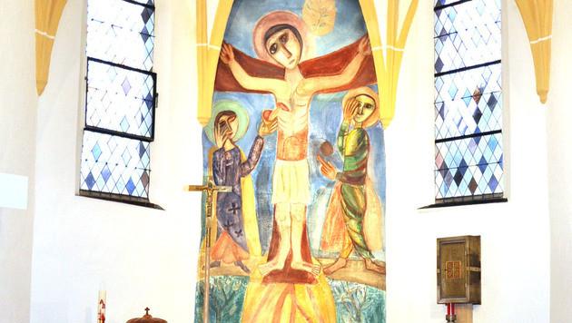 In den 60er-Jahren wurde das Altarbild verhüllt. (Bild: APA/DORIS TANZER/WOLFGANG ZARL)