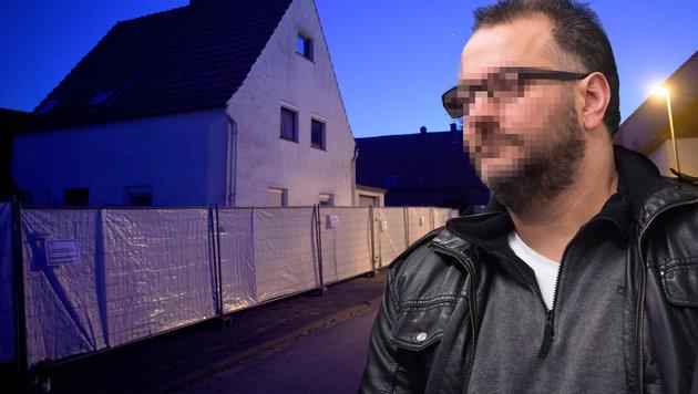Das Horror-Haus von Höxter und der Hauptangeklagte (Bild: dpa/Jonas Güttler, AP/Bernd Thissen)