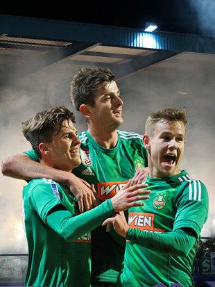"""Rapid: Fans wollen """"ausmisten"""", Spieler siegen 4:0 (Bild: GEPA)"""