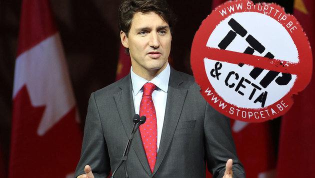 Der kanadische Premier Justin Trudeau (Bild: APA/AFP/JOHN THYS, APA/AFP/LARS HAGBERG)