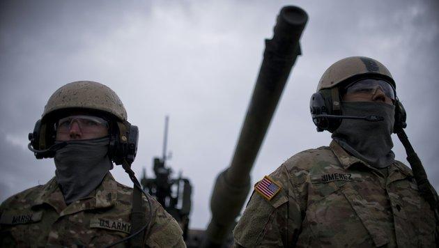 US-Soldaten im Rahmen einer Übung in Bulgarien im April des heurigen Jahres (Bild: APA/AFP/NIKOLAY DOYCHINOV)