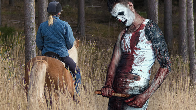 Clown erschreckte Pferd - Reiterin (19) verletzt (Bild: thinkstockphotos.de (Symbolbild))