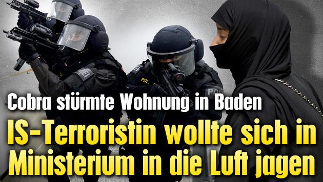 IS-Terroristin wollte sich in Ministerium sprengen