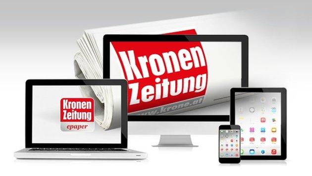 """""""Krone"""" lesen, wie und wo Sie wollen! (Bild: Kronen Zeitung/krone.at)"""