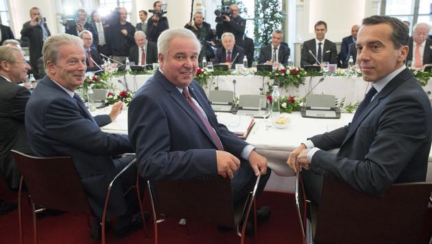 Kern am 4.10. zu Besuch in Graz anlässlich der Landeshauptleutekonferenz (Bild: APA/Erwin Scheriau)