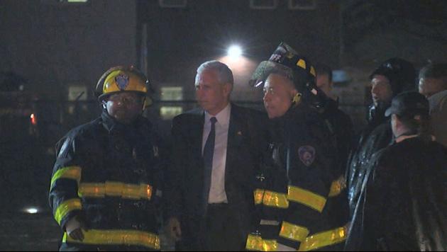 Mike Pence rutschte im Wahlkampf-Flugzeug von der Landepiste. (Bild: AP)