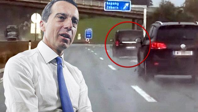 """Kanzler Kern: """"Teile mir Strafe mit dem Fahrer"""" (Bild: APA/BKA/Andy Wenzel, privat)"""