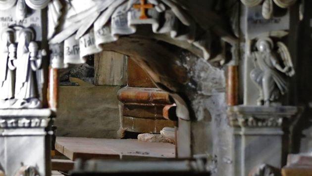 Jesus-Grab nach fast 500 Jahren wieder geöffnet (Bild: AFP)