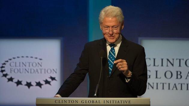 """Bill Clintons Stiftung hat sich zum Ziel gesetzt, """"die dringendsten Probleme der Welt"""" zu lösen. (Bild: APA/AFP/BRYAN R. SMITH)"""