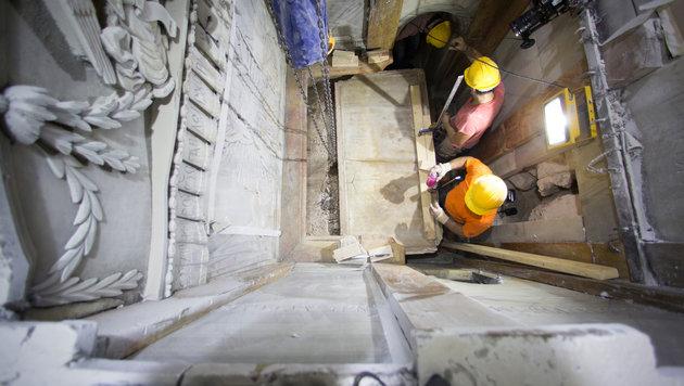 Jesus-Grab nach fast 500 Jahren wieder geöffnet (Bild: AP)