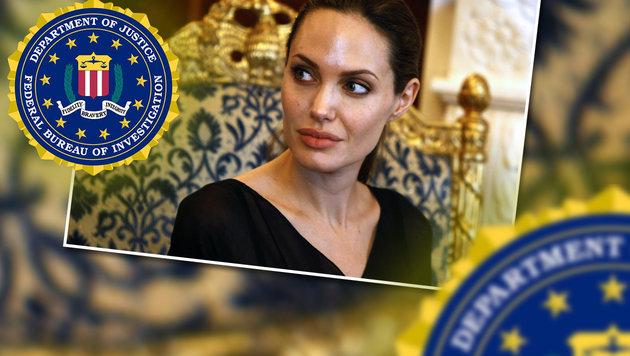 Angelina Jolie: Vier Stunden vom FBI verhört (Bild: AFP, FBI)
