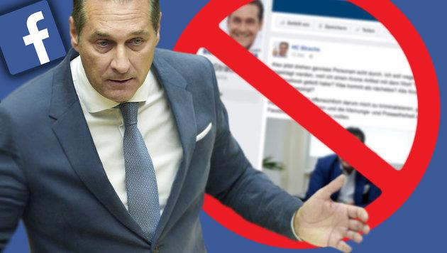Anwalt fordert Sperre von Straches Facebook-Seite (Bild: APA/HANS PUNZ, thinkstockphotos.de, facebook.com)