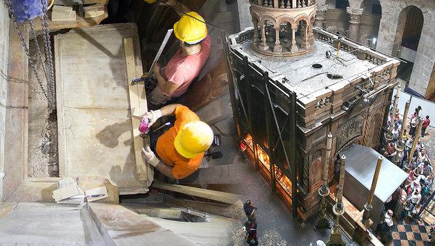 Jesus-Grab nach fast 500 Jahren wieder geöffnet (Bild: APA/AFP)