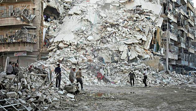 UNO fürchtet totale Vernichtung Ost-Aleppos (Bild: KARAM AL-MASRI/AFP/picturedesk.com)