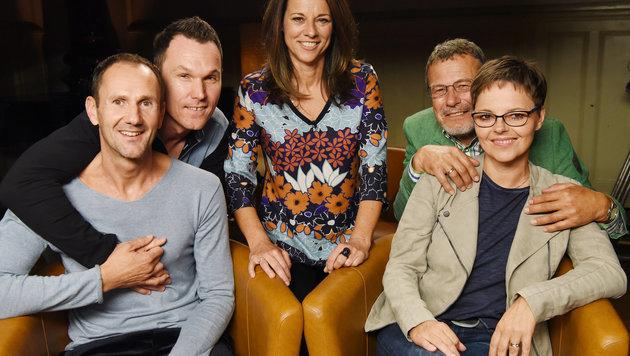 Vera Russwurm mit Patchworkfamilie (Bild: ORF)