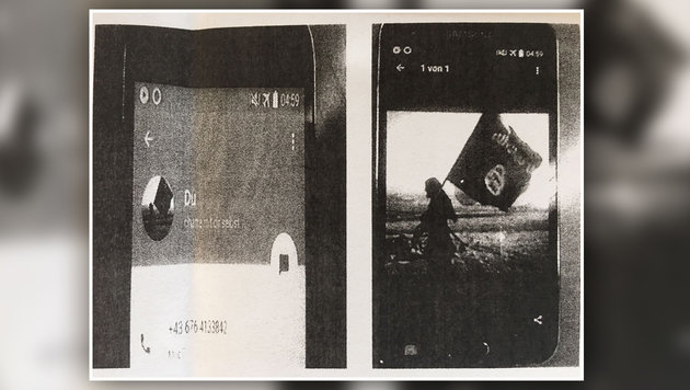 Das Profilbild des Ehemanns von Sali S. - das Paar wurde in Baden verhaftet - zeigt eine IS-Flagge. (Bild: krone.at)