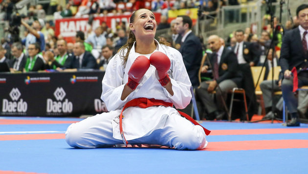 Gold für Österreich! Buchinger Karate-Champ (Bild: FOTOKERSCHI.AT/HANNES DRAXLER)