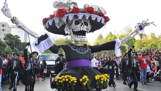 "Mexiko feiert den ""Tag der Toten"" (Bild: AFP)"