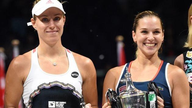 Angelique Kerber und Dominika Cibulkova (Bild: AFP)