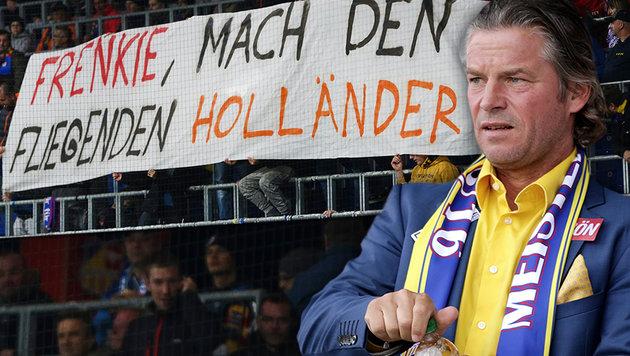 "Fans an Frenkie: ""Mach den fliegenden Holländer!"" (Bild: GEPA)"